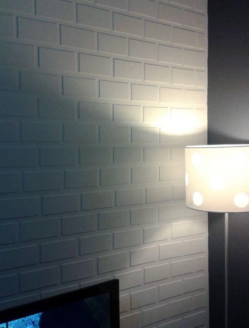 Pinte os espaços vazios para fazer o acabamento da sua parede