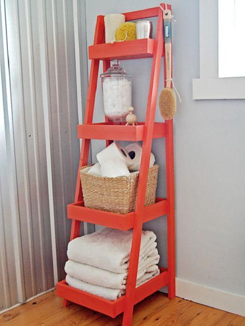 Reaproveite uma escada antiga e faça uma prateleira