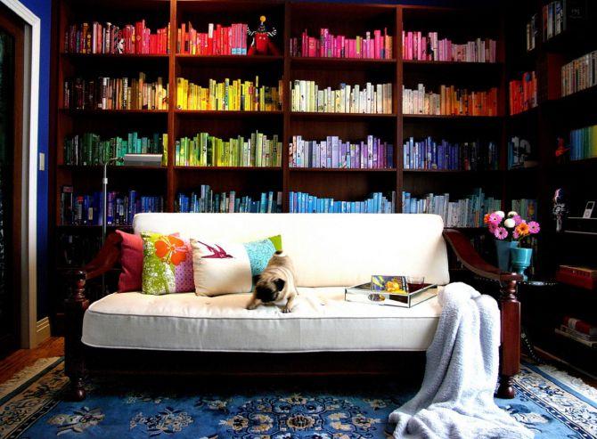Livros Organizados por Cores