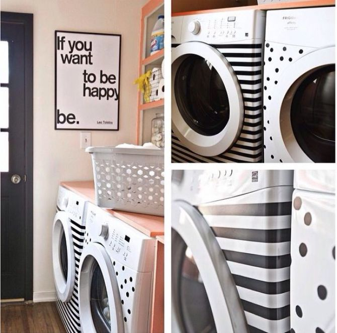 Cole Adesivos na Sua Máquina de Lavar