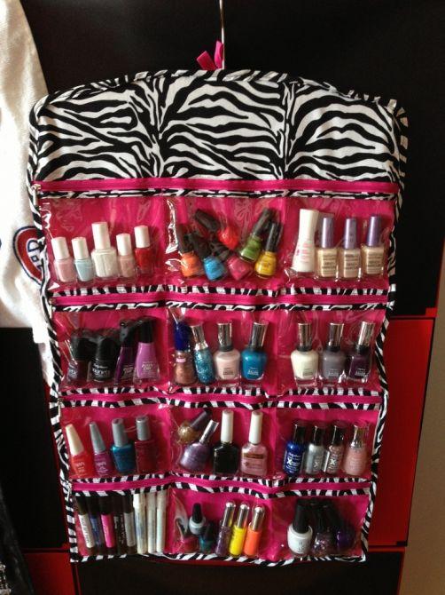 Organize seus esmaltes por cores