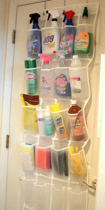 Tenha seus produtos de limpeza sempre à mão