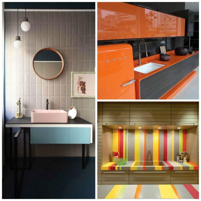 Cuba para banheiro e cozinha colorida
