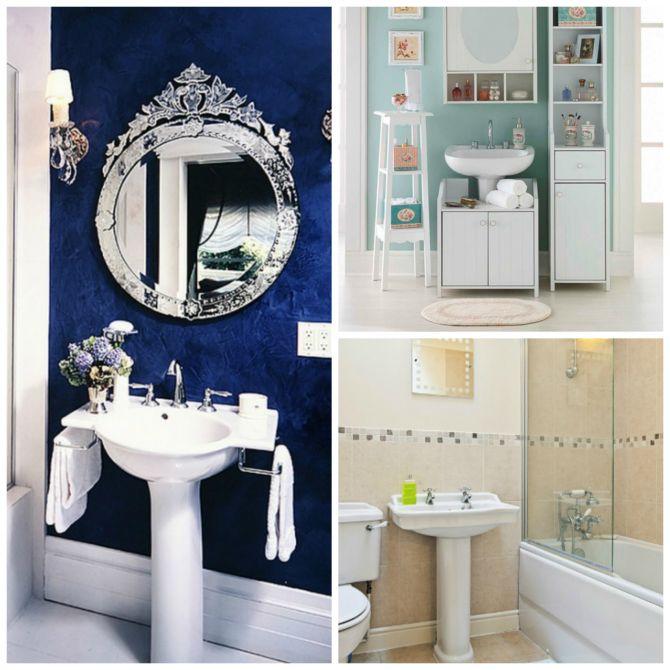 Cuba para banheiro de coluna