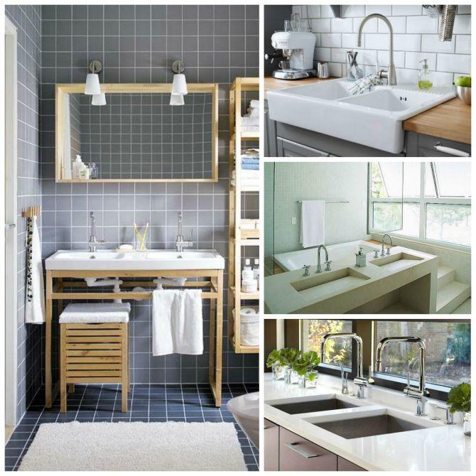 Cuba para banheiro e cozinha dupla