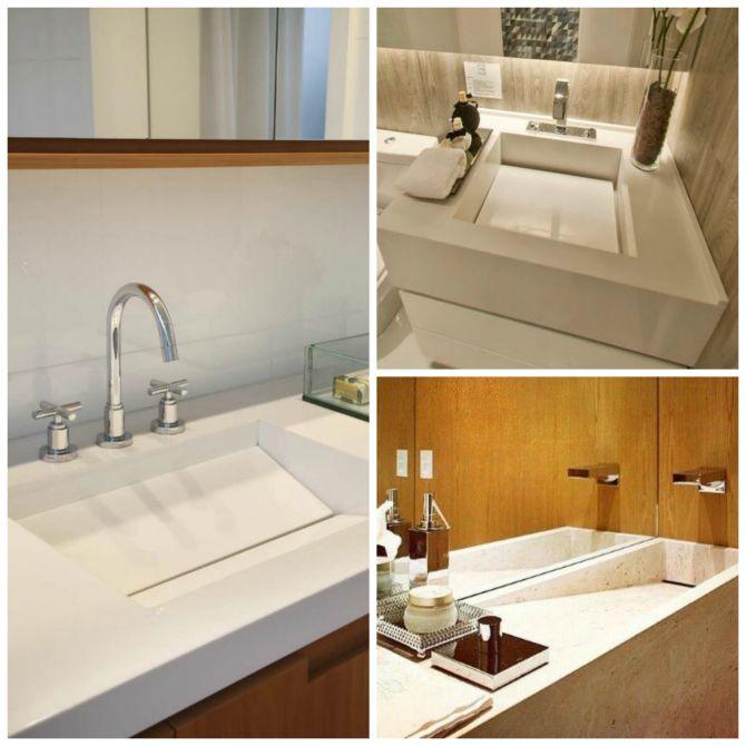 11 Sugestões de Cuba para Banheiro e Cozinha para Inspirar a Reforma  Blog d -> Pia De Banheiro Esculpida