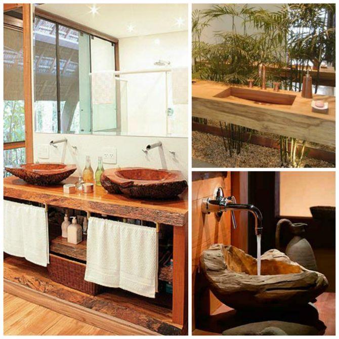Cuba para banheiro e cozinha de madeira