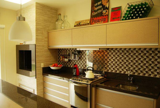 Espaço gourmet com cozinha integrada