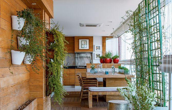 Plantas no espaço gourmet