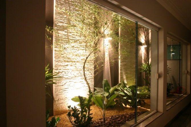 Luminárias podem dar um charme a mais ao seu jardim de inverno