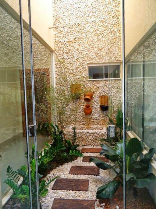 Pedras para decoração do jardim de inverno