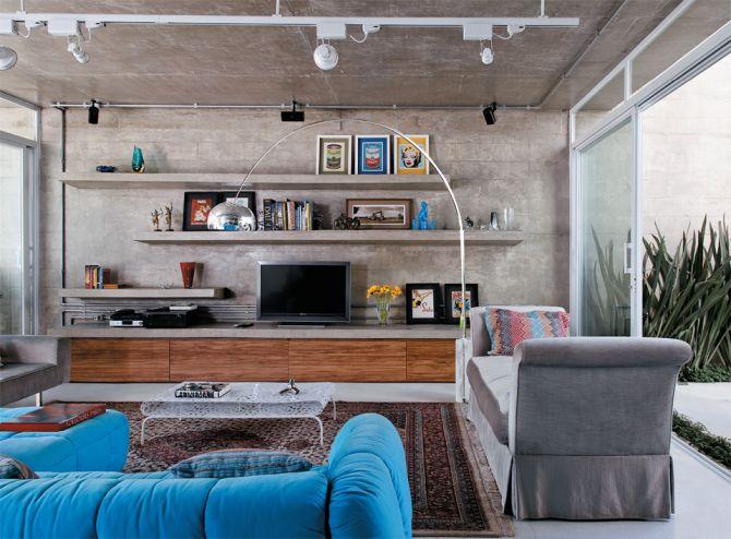 Hack para tv de concreto aparente