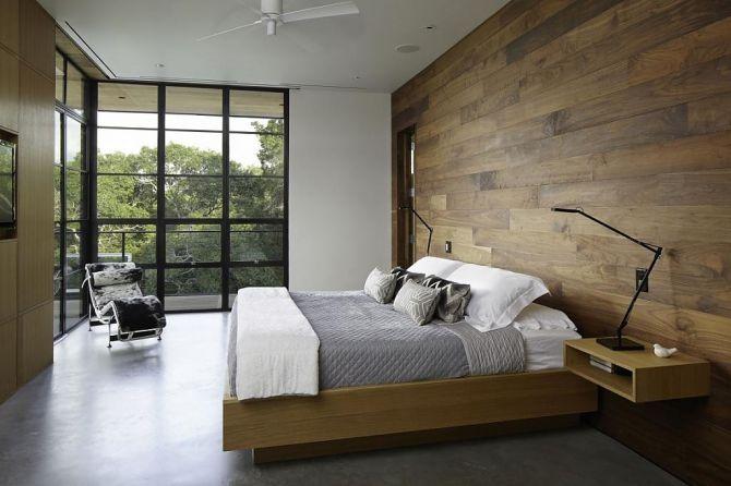 O mix de concreto e madeira dá um charme a decoração