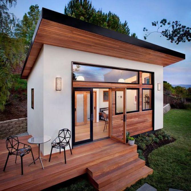 Casa pré-fabricada compacta