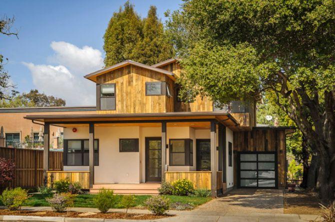 Casa pré-fabricada com dois pisos